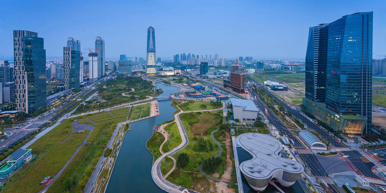 Una città futuristica Songdo